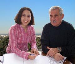 la candidate avec son suppléant Sylvain Borgni