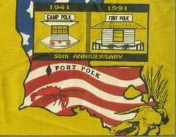 Fort Polk Anniversary flag