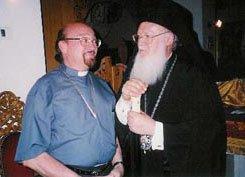 S. E. Monseñor +Pablo Manuel con Su Toda Santidad Bartolomé I Patriarca Ecuménico de Constantinopla