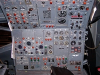 B-727 Second Officer panel