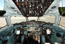 DC-9 flight deck