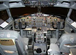 B727 Captain & First Officer panel...