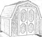 Free 8x8 Gambrel Roof Storage Shed Plans