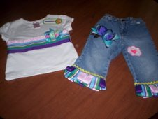 Ribbon Tee With Ribbon Jeans