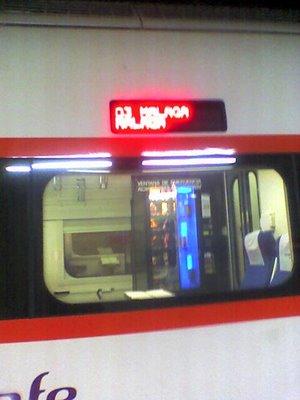 Máquina de vending en el R598