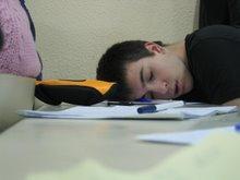 Yo dormido en clase