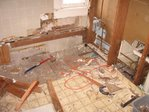 This is what the bathroom looked like...