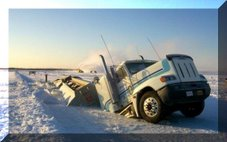 Ice Road - NWT - Broke Through