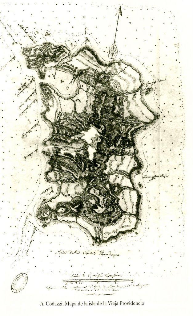 Mapa de Providencia- Agustin Codazzi