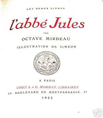 """L'Abbé Jules"", illustré par Fernand Siméon"