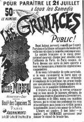 Affiche des Grimaces, 1883