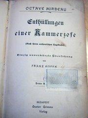Première traduction allemande du Journal d'une femme de chambre, publiée en Hongrie