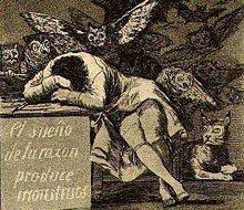 """Goya: """"el sueño de la razón produce monstruos"""""""