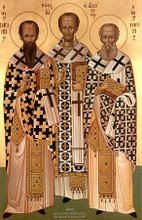 Icon of The Three Hierarchs of the Church