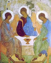 The Holy Trinity by  Andrei Rubliov