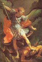 The Archangel Michael Tramples Satan