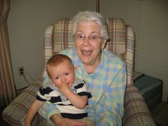Joshua with Great Grandma Stephens