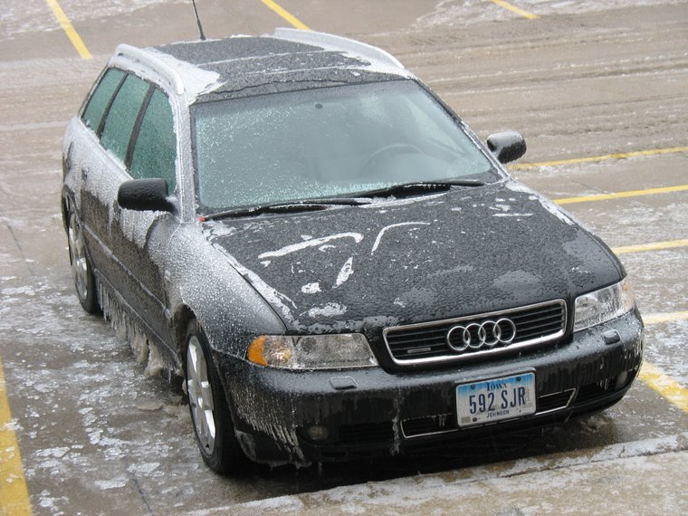 Our Car Covered in 2 Inches of Ice