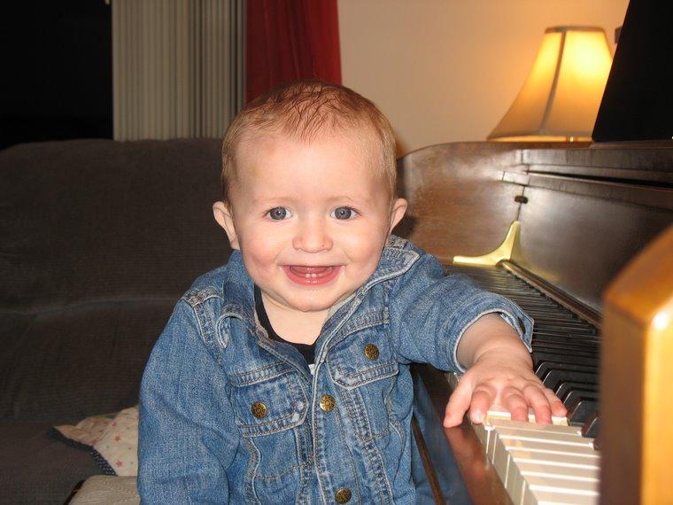 Joshua at the piano