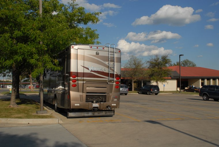 Parked for the night - at a Truck Stop