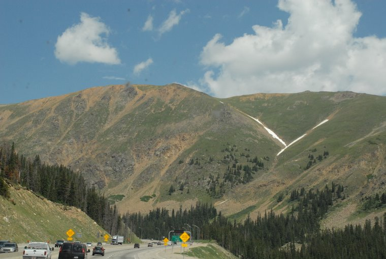 East of Vail near the 10,606' summit