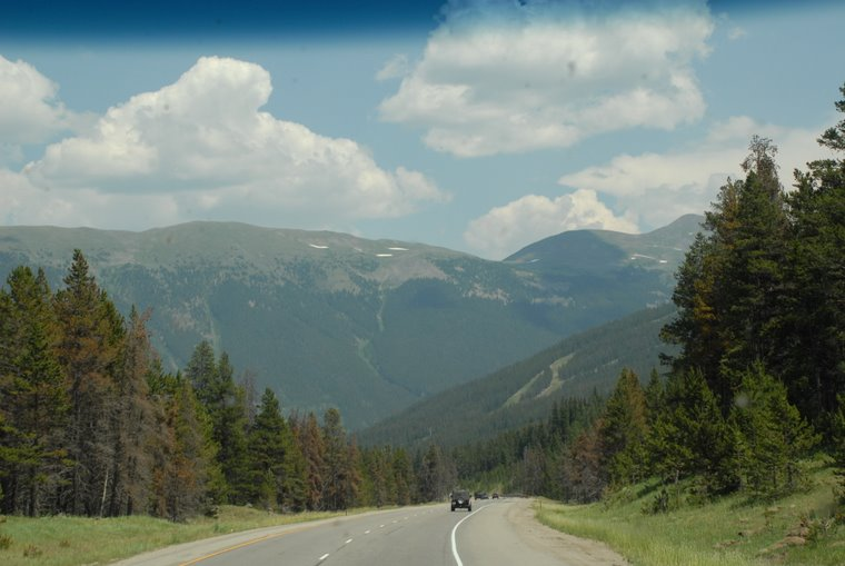 Climbing the mountain East of Vail