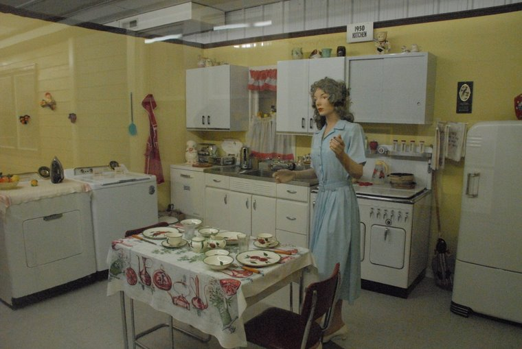 Look - a replica of a real old kitchen - 1950