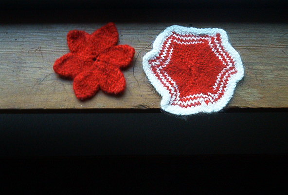 Knitting Terms Kfb : Orange fish knits holiday ornaments