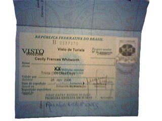 tourist visa to Brazil