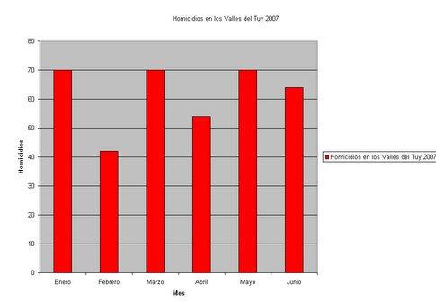 Gráfico de Homicidios en el Tuy 2007