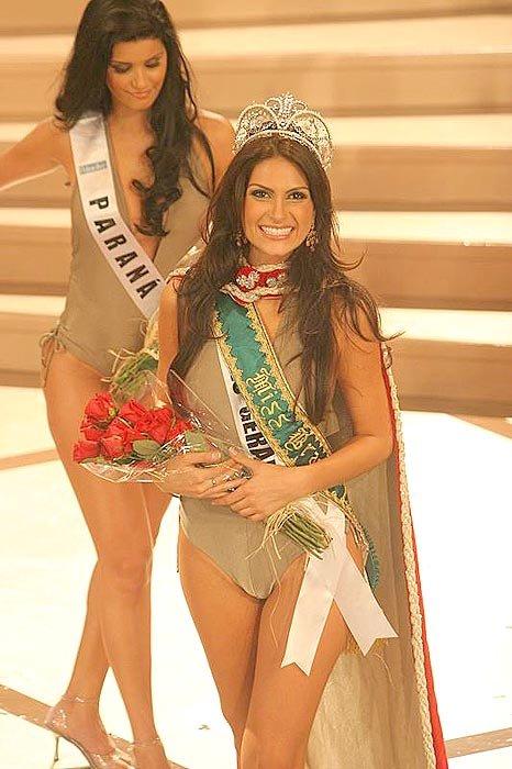 Natália no Miss Brasil (momento da vitória)