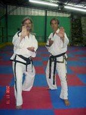 El Instructor Sabomnim Tomas Grunert 4º dan junto a su maestro Sahyumnim Juan Martínez