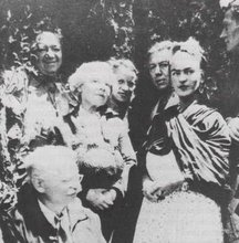 Trotsky with Frida Kahlo and Diego Riveria