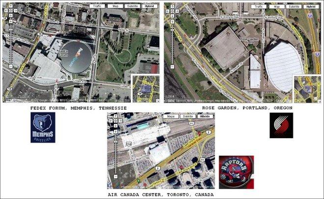 """""""Nuestros"""" pabellones en GoogleMaps"""
