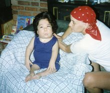 My Aunt Renee during treatment with my cousin Karen 1995