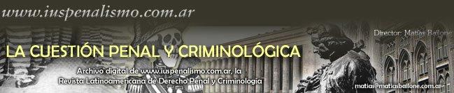 La Cuestión Penal y Criminológica