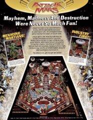 Attack from Mars Original Flyer (back)