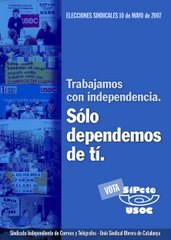Cartel electoral SiPcte-USOC 2007