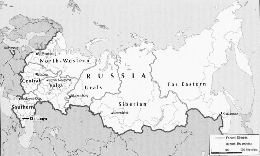 Localização da Chechênia