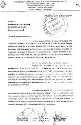 Carta Presentada al Presidente de la Nacion