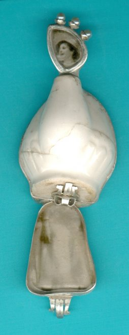 D-4, silver, ceramic, pearls, foto
