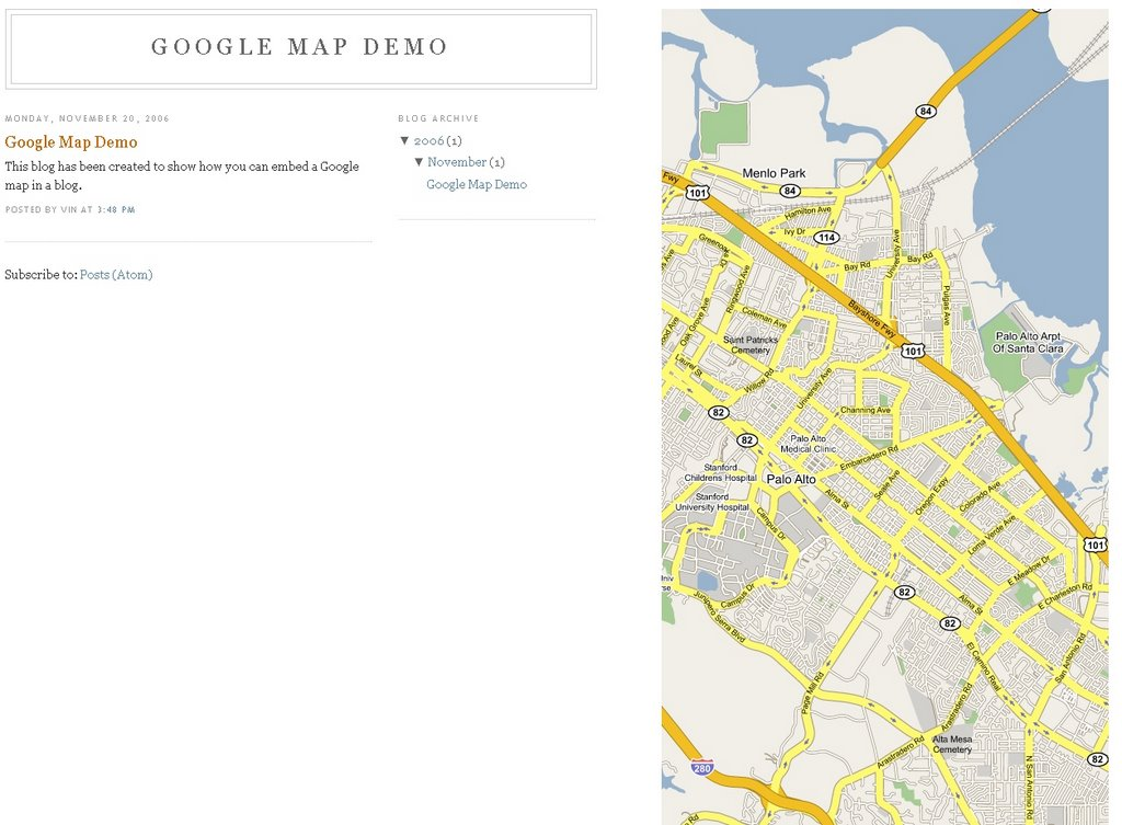 Add a Google MAP to your Blog. ~ The Blog Doctor.