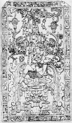 Tumba de Palenque (Cópia do alto-relevo da tumba)