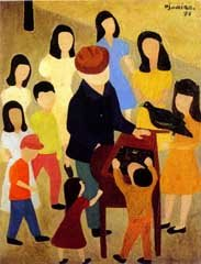 Tocador de Realejo (Djanira da Mota Silva, 1951