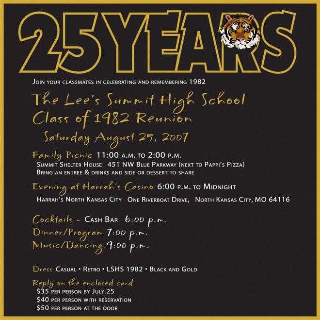 Lee S Summit Mo High School Class Of 1982 Reunion Reunion