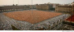 "18000 naked people in Mexico""s Main Square"