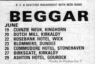 Cartel de la gira escocesa