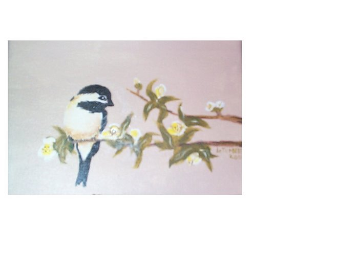 Chickadee with Swarovski Crystal