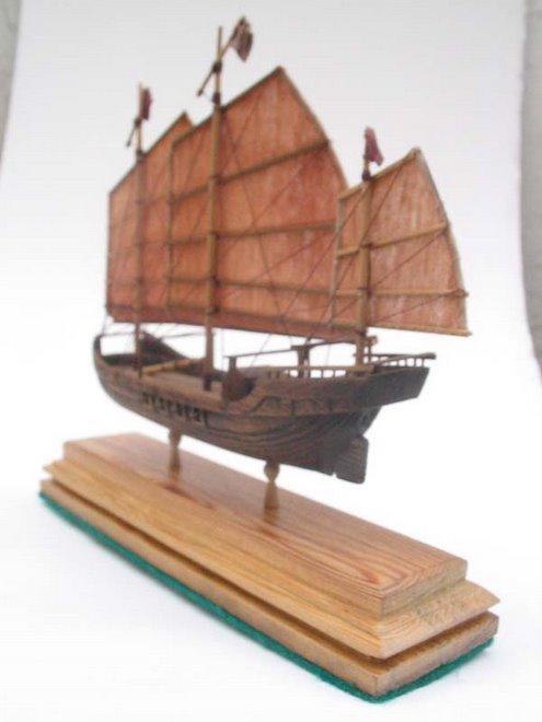 Junco Chino tallado en madera