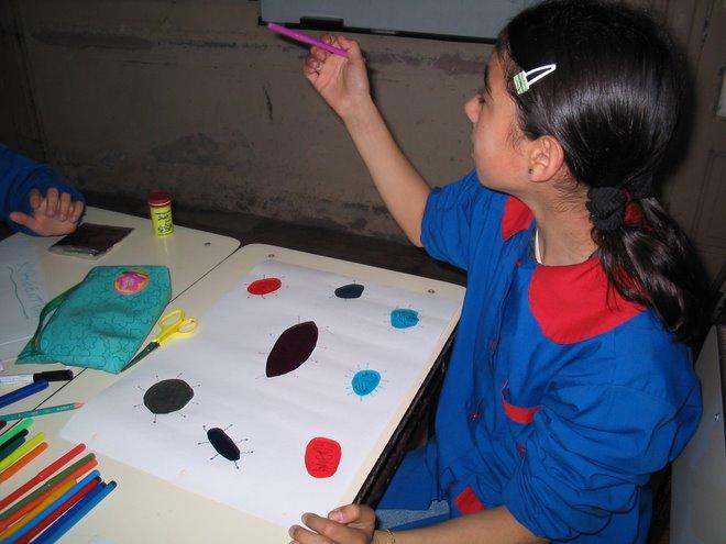 los chicos trabajaron en una instancia individual, en clase, con las maestras